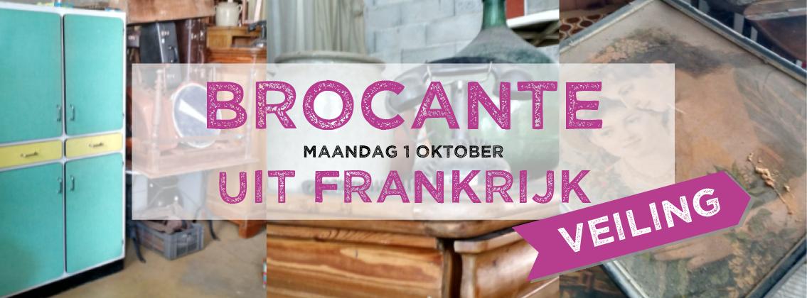 Brocante met veiling op maandag 1 oktober