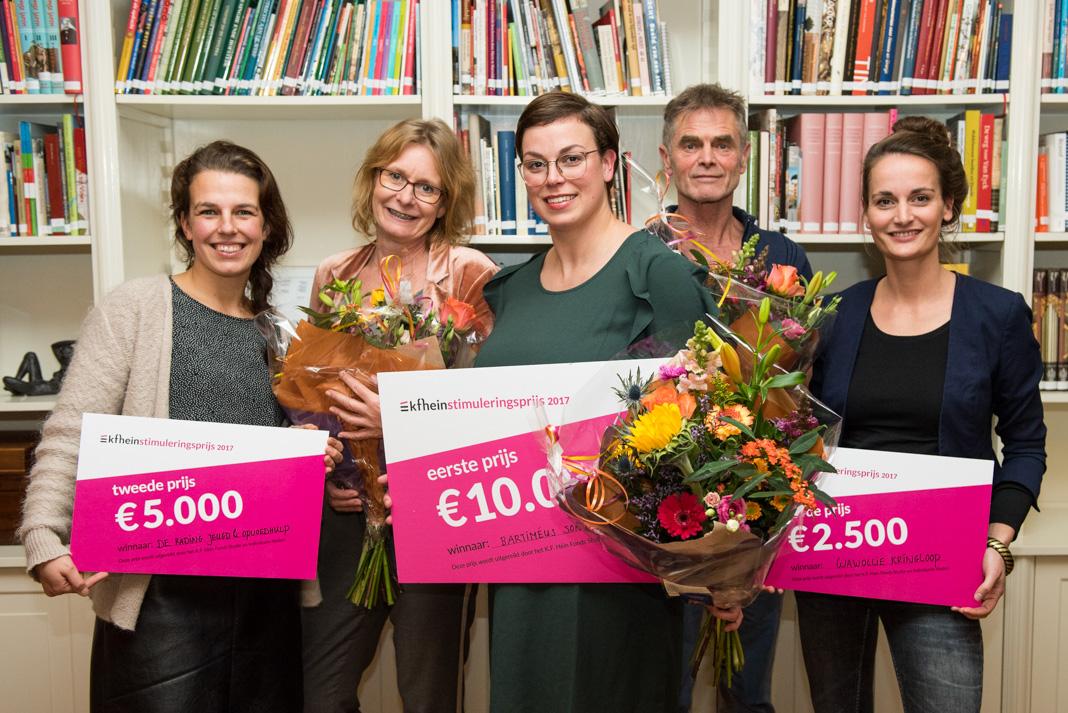 Wawollie wint 3e prijs KF Hein stimuleringsprijs