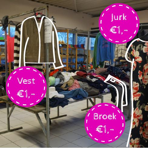 Alle kleding 1 euro!