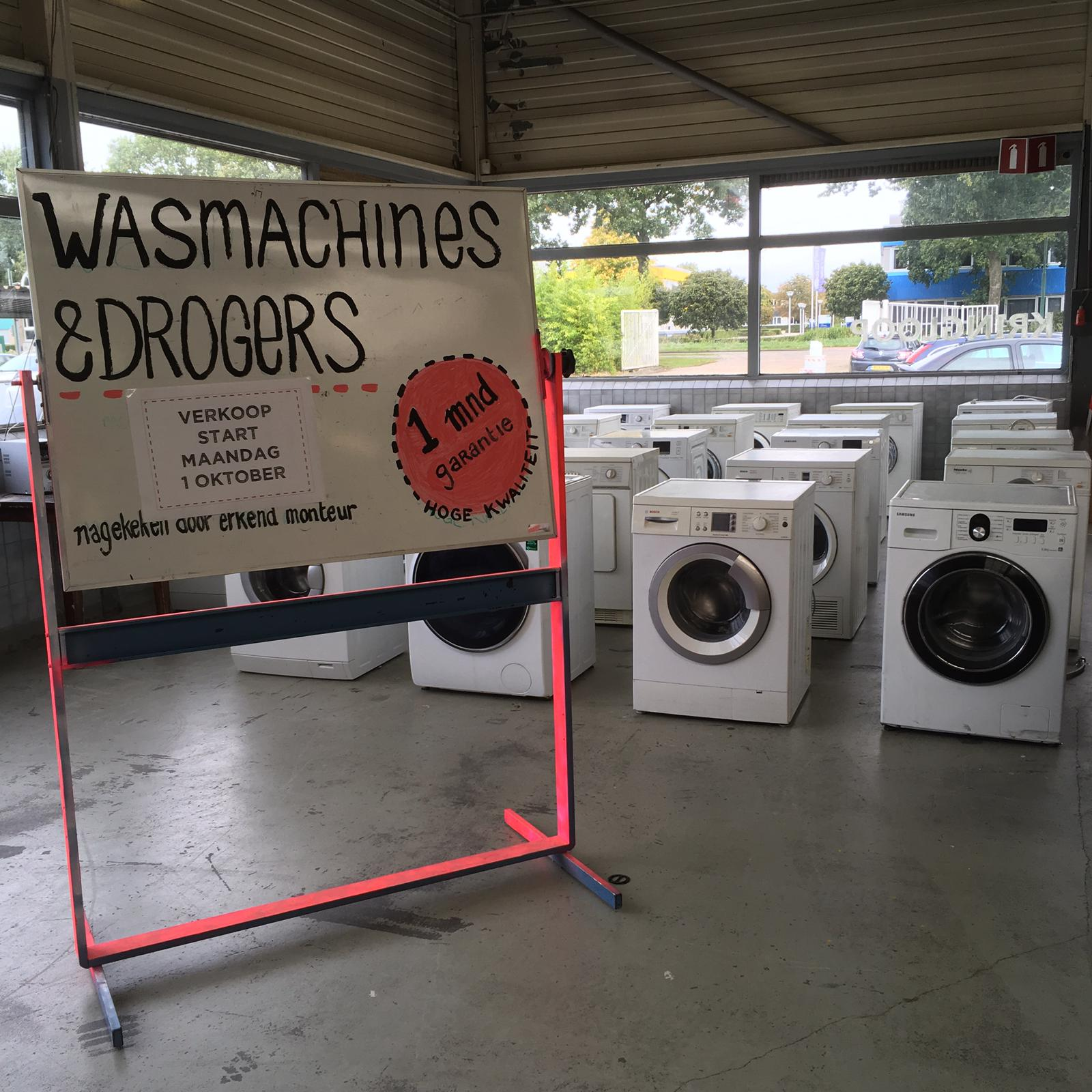 Meer dan 100 wasmachines en drogers in de verkoop