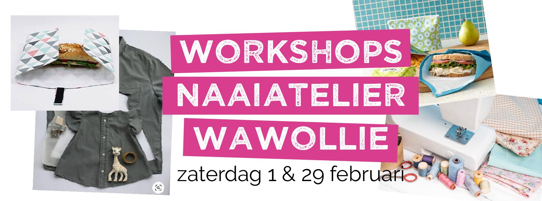 Doe mee aan de workshops van het naaiatelier