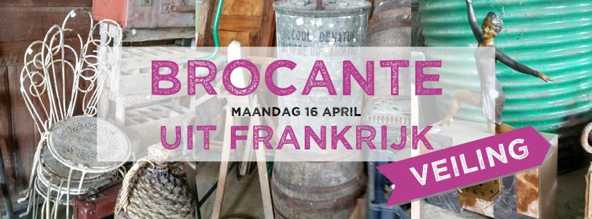 Brocante veiling op maandag 16 april