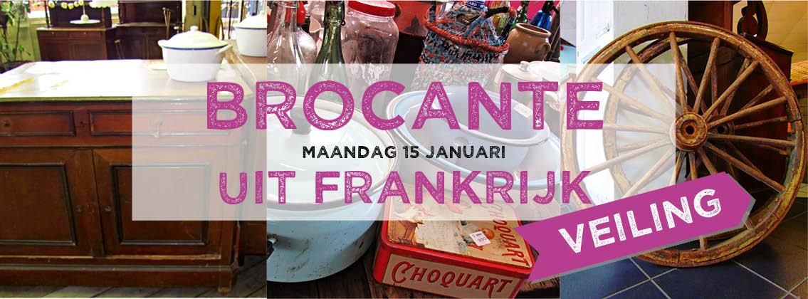 Brocante & veiling op maandag 15 januari